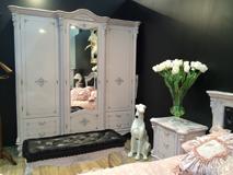 Шкаф 3-х «Регаллис» белый с серебром