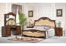 Спальня «Глория» в комплект входит: Кровать 180х200; туалетный стол с зеркалом; тумбочка 2 - штуки